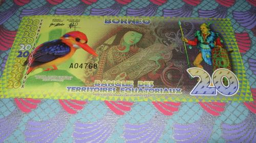 Bank of the Equatorial Territories Borneo 20 francs 2014 POLYMER, UNC