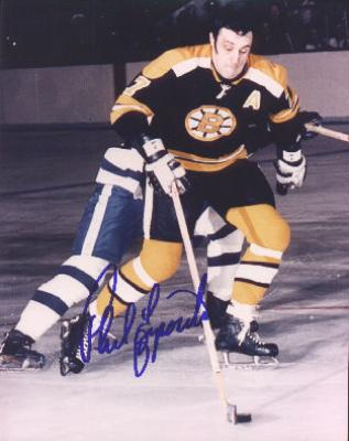 Phil Esposito autographed 8x10 Boston Bruins photo