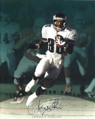 Irving Fryar certified autograph Philadelphia Eagles 1997 Leaf 8x10 photo card