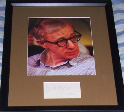 Woody Allen autograph matted & framed with 8x10 photo