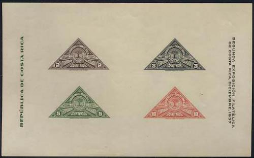 Philatelic exposition s/s; Year: 1937