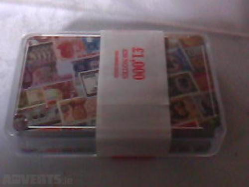 playing cards with pictures of banknotes brand new in plastic box