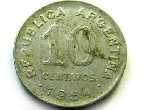 Coins;  CENTAVOS 1954 ARGENTINA COIN