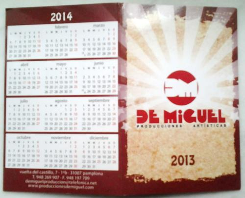 Pocket calendar from Spain