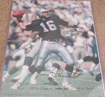Jim Plunkett autographed Oakland Raiders 11x14 photo