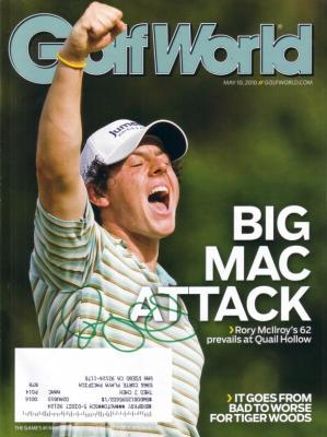 Rory McIlroy autographed 2010 Golf World magazine