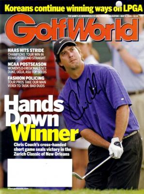 Chris Couch autographed 2006 Golf World magazine