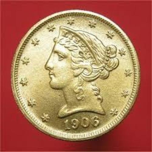 Coins; USA. 1906 US Five Dollar coin