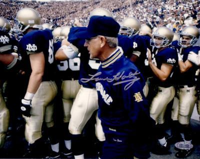 Lou Holtz autographed 8x10 Notre Dame photo (Steiner)