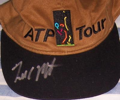 Todd Martin autographed ATP Tour cap