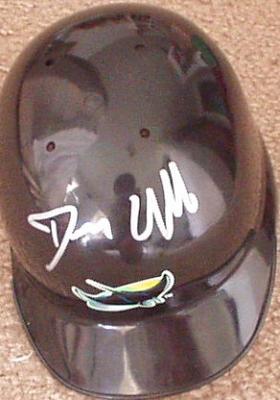 Dennis Quaid (The Rookie) autographed Devil Rays mini helmet