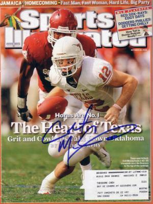 Colt McCoy autographed Texas Longhorns 2008 Sports Illustrated