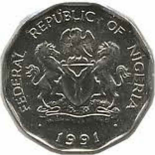Nigeria 50 kobo Nickel-plated steel coin