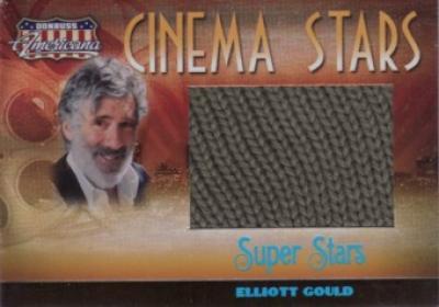 Elliott Gould (M*A*S*H) worn sweater swatch Donruss Americana Super Stars card #6/25