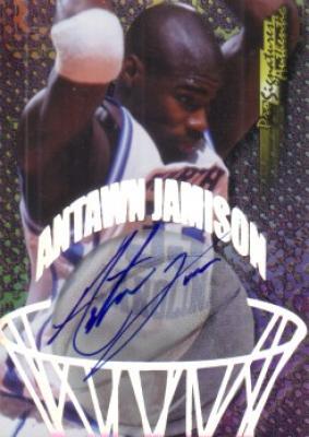 Antawn Jamison certified autograph North Carolina Tar Heels card