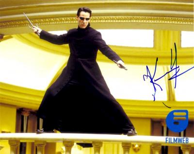 Keanu Reeves autographed 8x10 Matrix Reloaded photo