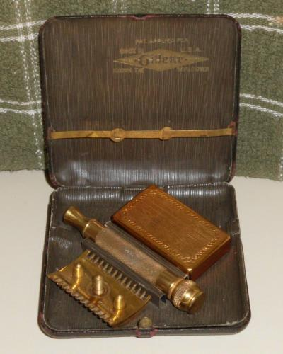 1920 Gillette Razor Set Cigarette Case