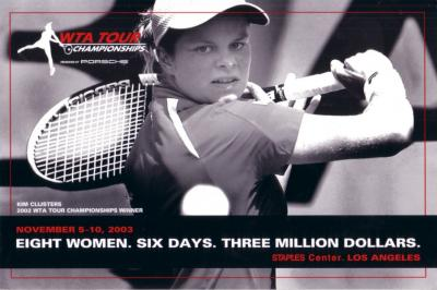 Kim Clijsters 2003 WTA Tour 6x9 promo postcard