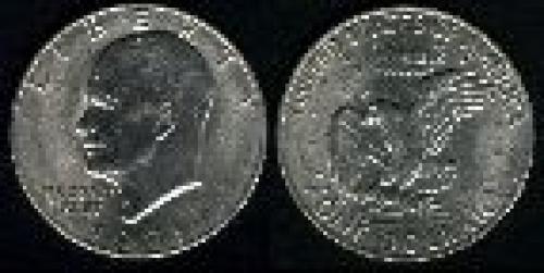 1 dollar; Year: 1971-1978; Eisenhower