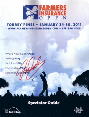 John Daly autographed 2011 Farmers Insurance Open golf program