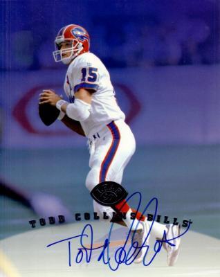 Todd Collins autographed Buffalo Bills 1997 Leaf 8x10 photo card