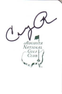 Condoleezza Rice autographed Augusta National Masters scorecard