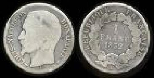 1 franc; Year: 1852; (km 772)