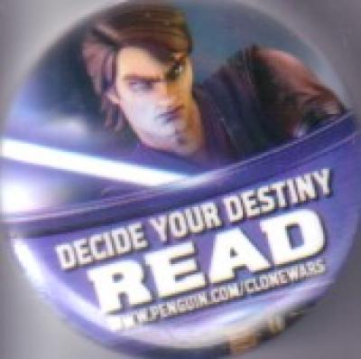Star Wars Clone Wars 2011 Comic-Con promo button or pin (Anakin Skywalker)
