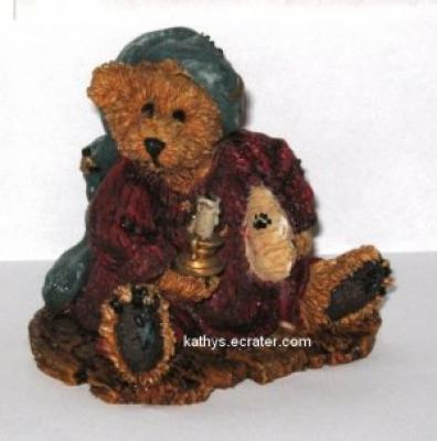 Boyds Bearstone Neville Bedtime Bear 8th Ed Animal Figurine