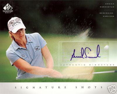 Annika Sorenstam certified autograph 2004 SP Signature Golf 8x10 photo card