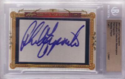 Phil Esposito certified autograph 2011 Leaf Executive Masterpiece Cut Signature card #1/1