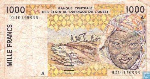 West Afr Stat. A 1000 Francs