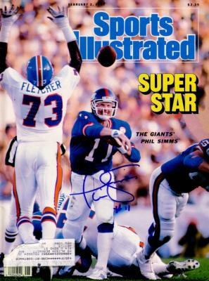 Phil Simms autographed New York Giants Super Bowl 21 Sports Illustrated