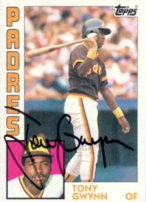 Tony Gwynn autographed San Diego Padres 1984 Topps card