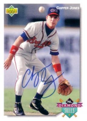Chipper Jones autographed Atlanta Braves 1992 Upper Deck minor league card