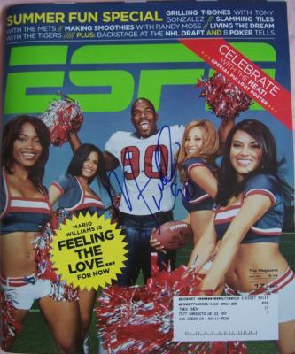 Mario Williams autographed Houston Texans 2006 ESPN magazine