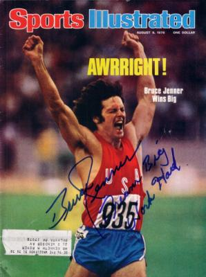 Bruce Jenner autographed 1976 Olympics Sports Illustrated inscribed Dream Big Work Hard