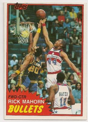 Rick Mahorn 1981-82 Topps Rookie Card