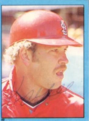 Ken Oberkfell autographed St. Louis Cardinals 1982 Topps sticker