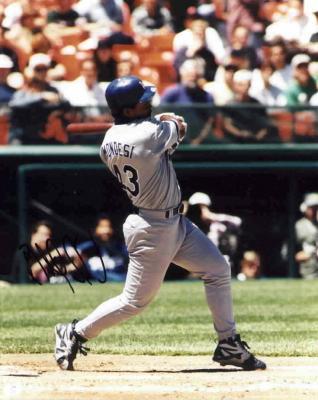 Raul Mondesi autographed Los Angeles Dodgers 8x10 photo