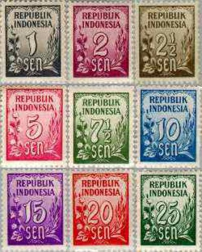 Definitives 9v; Year:  1951