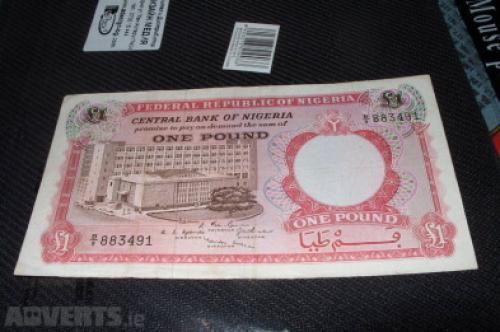 Nigeria-1 pound -1967