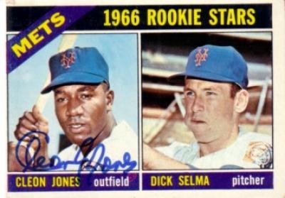 Cleon Jones autographed New York Mets 1966 Topps Rookie Card