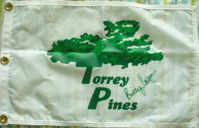 Billy Casper autographed Torrey Pines golf pin flag