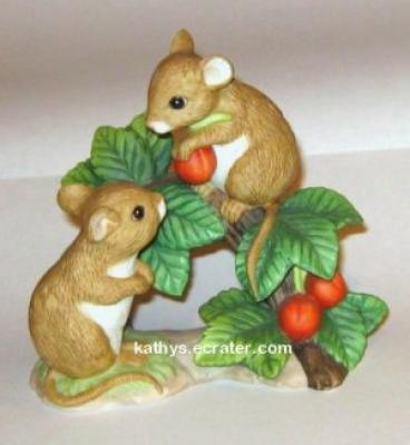 Home Interiors 1443 Tiny Tales Mice Animal Figurine
