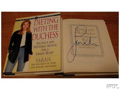 Sarah Ferguson autographed Dieting with the Duchess hardcover book
