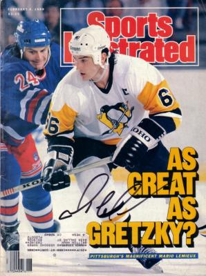 Mario Lemieux autographed Pittsburgh Penguins 1989 Sports Illustrated