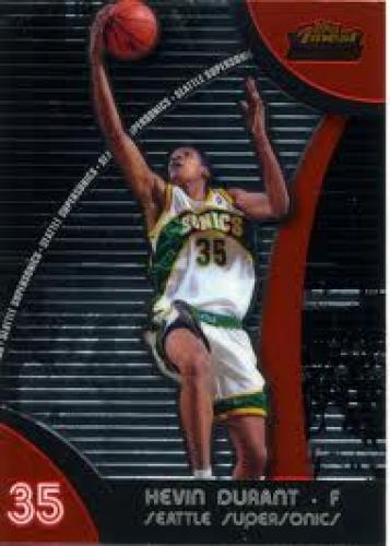 Basketball Card; 2007-08 Finest Basketball rookie card. 2007-08 Finest Kevin Durant RC