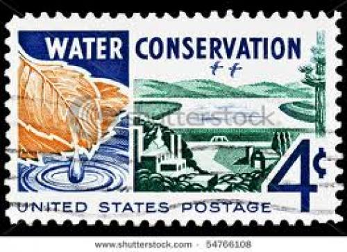 Stamps;  4c; CIRCA 1960's : A stamp printed in United States of America; Water Conservation