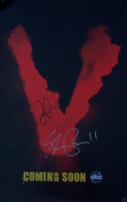 Joel Gretsch & Elizabeth Mitchell autographed V mini poster